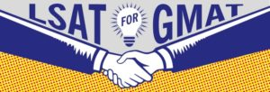 LSAT for GMAT Handshake Graphic