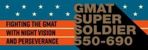 Average GMAT 550 to 690