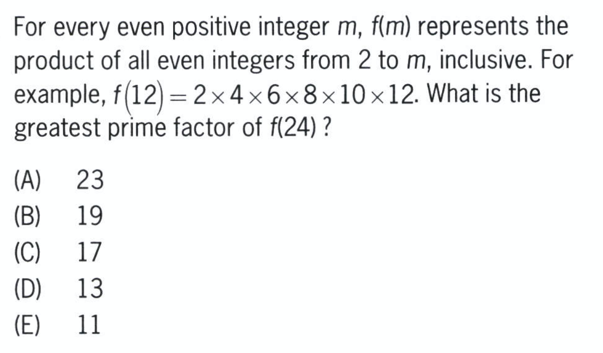 GMAT Function Question Example